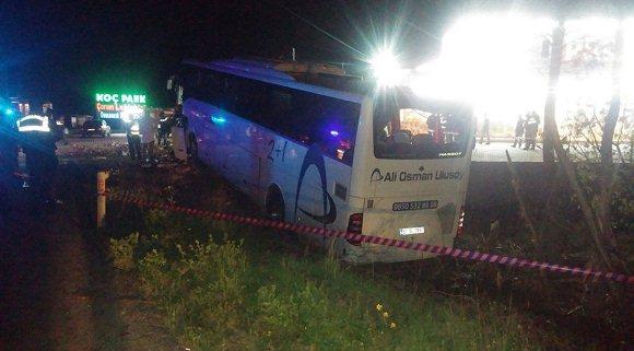 Çorum'da otobüs kazası! İki ölü, 33 yaralı