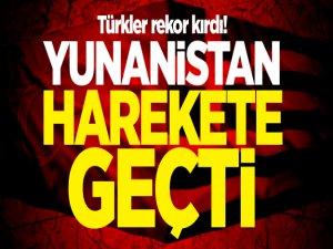 Türkler rekor kırdı! Yunanistan harekete geçti