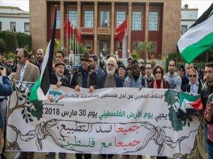 Fas'ta Filistin İle Dayanışma Gösterisi Düzenlendi