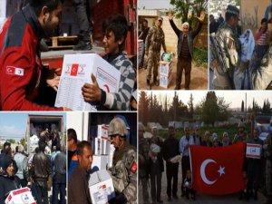TSK, AFAD ve Kızılay Afrin'de İnsani Yardımlarına Devam Ediyor