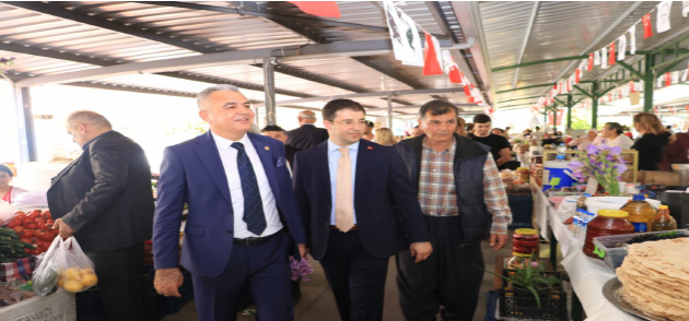 MHP Mezitli'den Esnaf Ziyareti