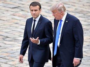 Trump İle Macron Suriye'yi Görüştü