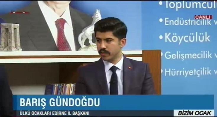 Edirne Ülkü Ocakları İL Başkanı BengüTürk Tv de