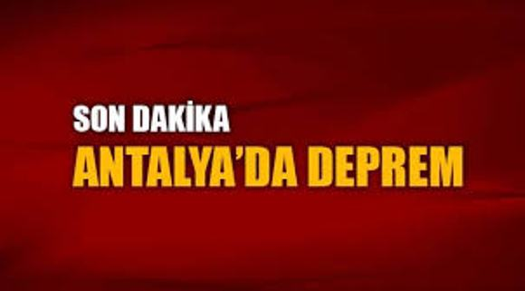 Antalya'da korkutan deprem: 4.9...