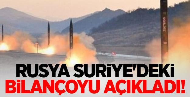 Rusya, Suriye'deki bilançoyu açıkladı!