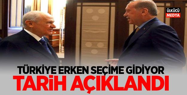 Cumhurbaşkanı Erdoğan açıkladı: Türkiye erken seçime gidiyor!