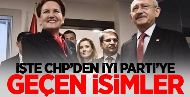 İŞTE CHP'DEN İYİ PARTİ'YE GEÇEN İSİMLER