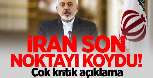 İran, son noktayı koydu!
