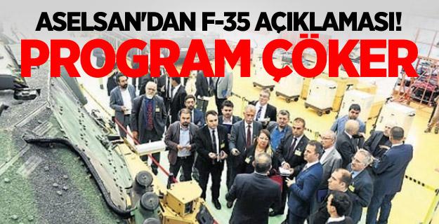 Aselsan'dan F-35 açıklaması! Program çöker