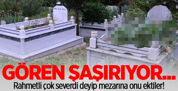 Rahmetli çok severdi deyip mezarına onu ektiler!