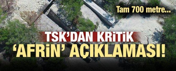 TSK Afrin'de tünel buldu, tam 700 metre...