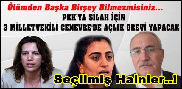 HDP'li vekiller BM önünde açlık grevinde...!