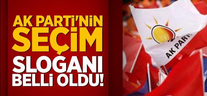 AK Parti'nin seçim sloganı belli oldu!