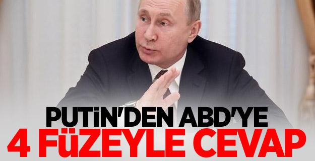 Putin'den ABD'ye 4 füzeyle cevap