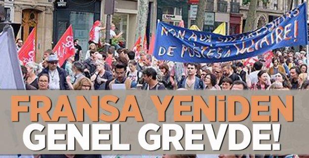 Fransa yeniden genel grevde!