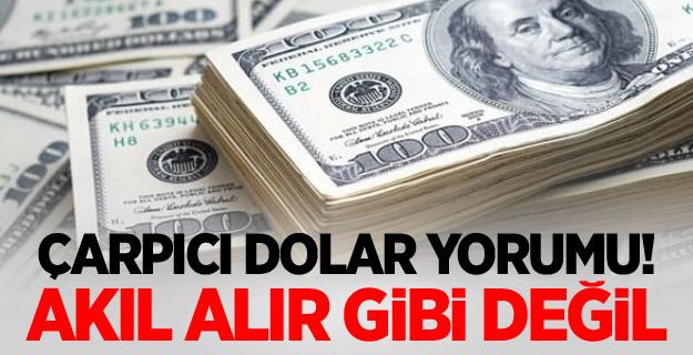 Çarpıcı dolar yorumu! Akıl alır gibi değil