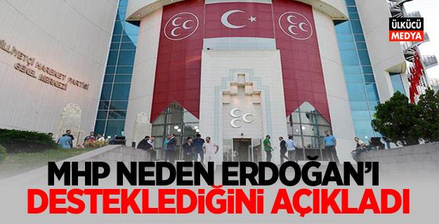MHP neden Erdoğan'ı desteklediğini açıkladı!
