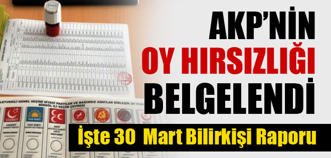 AKP'NİN OY HIRSIZLIĞI BELGELENDİ !