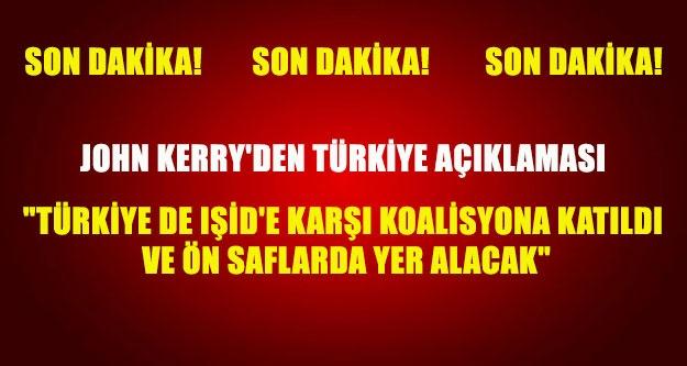 John Kerry'den Türkiye açıklaması....