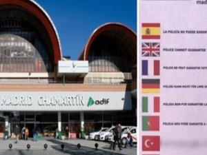 İspanya'da 'Türkçe' rezaleti! Cahillik diz boyu