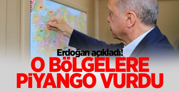 Erdoğan açıkladı! O bölgelere piyango vurdu