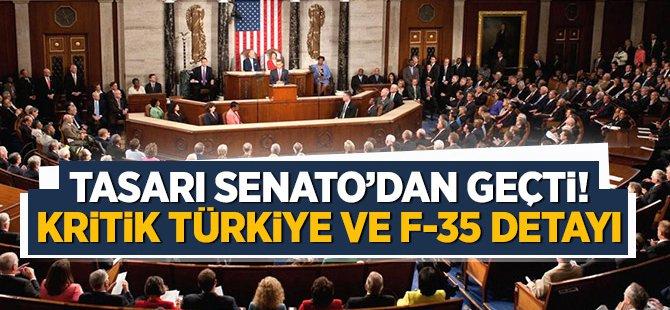 Tasarı Senato'dan geçti! Kritik Türkiye ve F-35 detayı