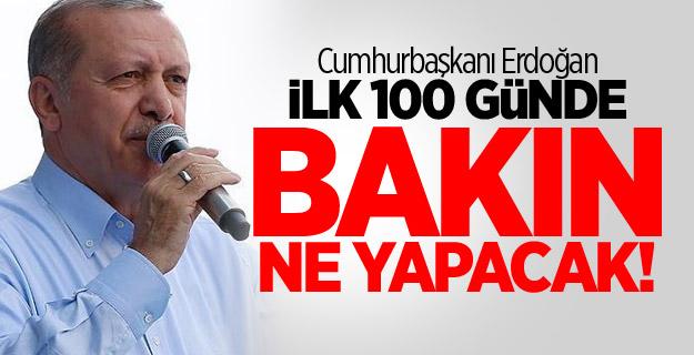 Cumhurbaşkanı Erdoğan ilk 100 günde bakın ne yapacak!