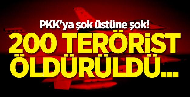 PKK'ya şok üstüne şok! 200 terörist öldürüldü...