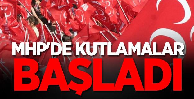 MHP'de kutlamalar başladı