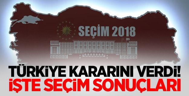 Türkiye kararını verdi! İşte seçim sonuçları