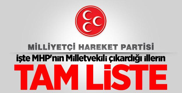 İşte MHP'nin Milletvekili çıkardığı illerin tam listesi