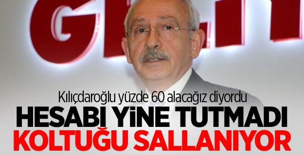 Kılıçdaroğlu yüzde 60 alacağız diyordu! Hesabı yine tutmadı koltuğu sallanıyor