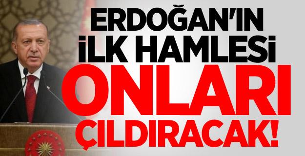 Erdoğan'ın ilk hamlesi onları çıldıracak!