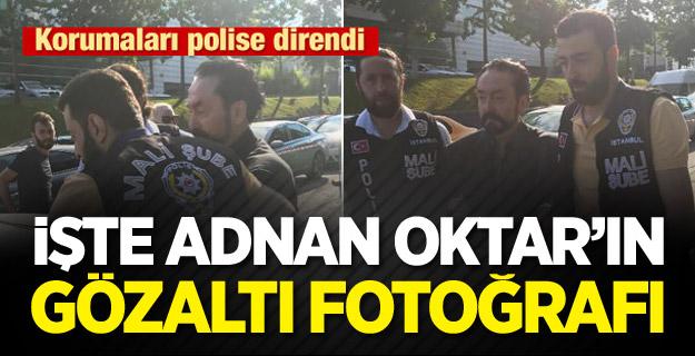 Korumaları polise direndi! İşte Adnan Oktar'ın gözaltı fotoğrafı
