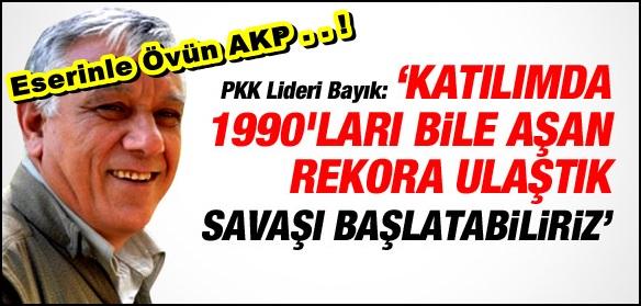 'PKK'YA KATILIMDA REKOR; SAVAŞ BAŞLAYABİLİR'
