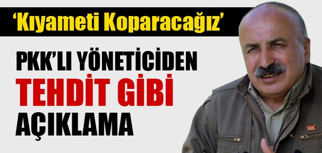 PKK'DAN TEHTİT GİBİ AÇIKLAMA !