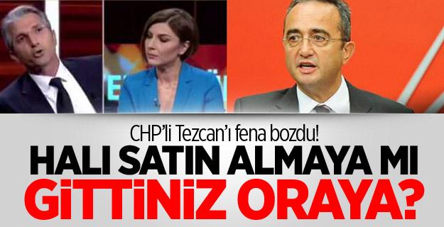 CHP'li Tezcan'ı fena bozdu! Halı satın almaya mı gittiniz oraya?