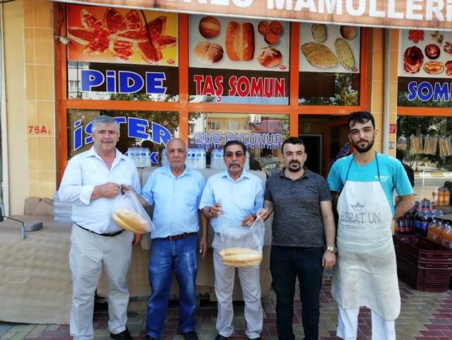 """MHP Gölbaşı İlçe Teşkilatından """"Askıda Ekmek"""" Projesine Destek"""