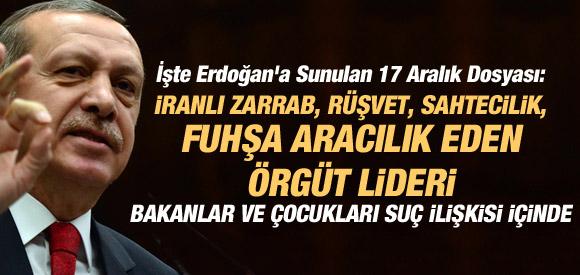 17 Aralık'ta Erdoğan'a gönderilen bilgi notları