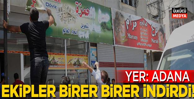 Adana Büyükşehir Belediyesi'nden flaş karar! Arapça tabelalar kaldırıldı