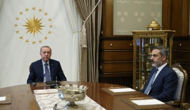 Erdoğan, MİT Müsteşarı Fidan'ı kabul etti!