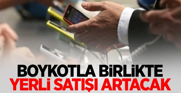 Boykotla cepte yerli telefon satışı artacak