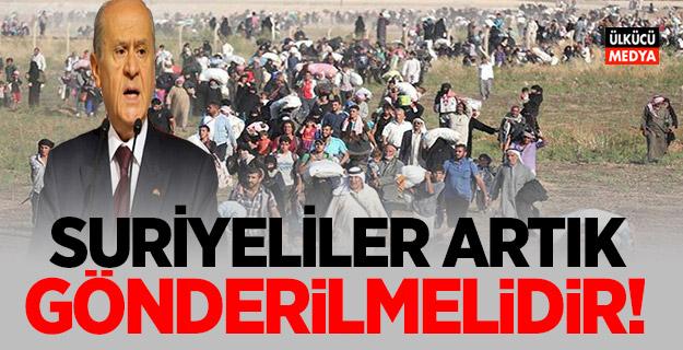 SURİYELİLER ARTIK GÖNDERİLMELİDİR!