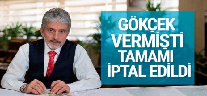 GÖKÇEK VERMİŞTİ, Ankara Büyükşehir hepsini iptal etti
