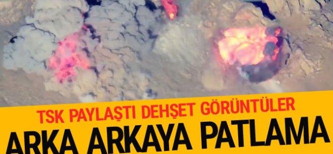 TSK'dan PKK'ya ağır darbe! O anlar görüntülendi…