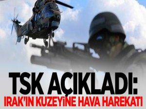 TSK Açıkladı: Irak'ın Kuzeyine Hava Harekatı Düzenlendi