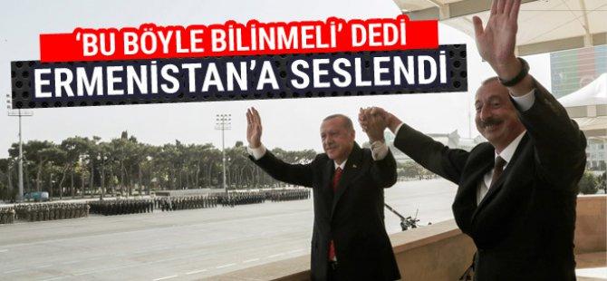 Cumhurbaşkanı Erdoğan'dan 'Yukarı Karabağ' mesajı