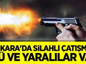 Ankara'da silahlı çatışma: Ölü ve yaralılar var