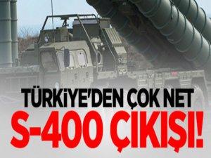 Türkiye'den çok net S-400 çıkışı!