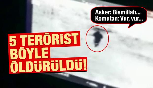 Muş'ta 5 terörist böyle öldürüldü!